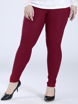 Plus Size Plain Skinny-Leg Women's Leggings