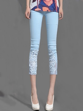 Skinny Lace Patchwork Haren Pant