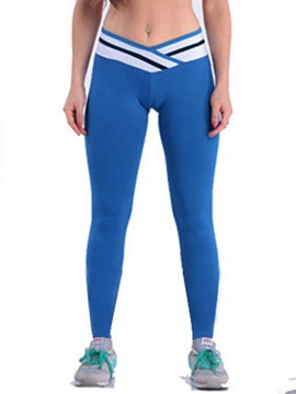 Colored Stripe Designed Curvy-Fit Leggings