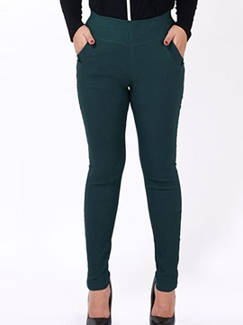 Plus Size Slim High-Waist Leggings