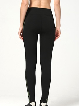 Slimming Stripe Designed Ninth-Length Leggings