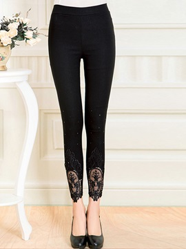 Slim Lace Patchwork Candy Color Leggings