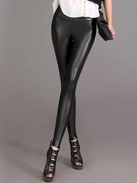 Slim Faux Leather Black Leggings