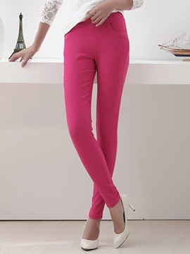 High-Waist Slim Candy Color Leggings