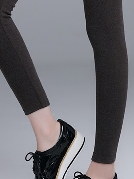 High-Waist Cotton Patchwork Leggings
