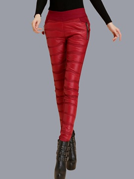 High Waisted Pure Color Tight Thick Women's Leggings