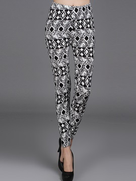 High Waisted Flower Print Tight Women's Leggings