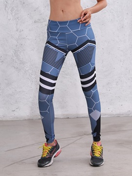 Geometric Print Sports Women's Leggings