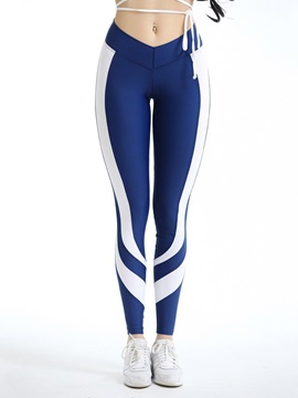Color Block Thin Sports Stretchy Women's Leggings