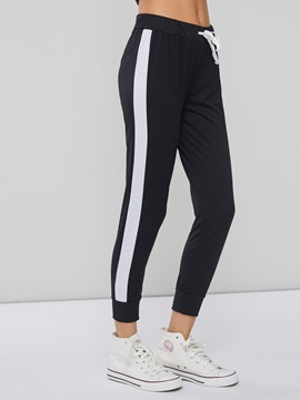 Color Block Stripe Skinny Women's Leggings