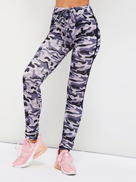 Polyester Casual Camouflage Women's Leggings