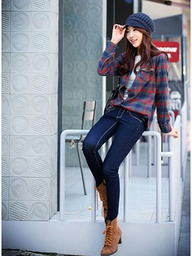 Beautiful Korean Style Slim Thick Skinny Jeans