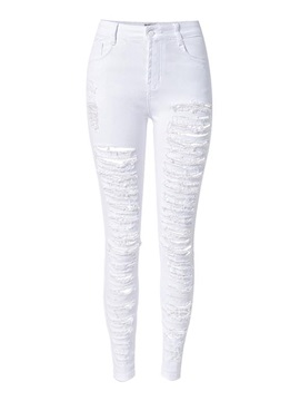 Chic Ripped High-Waist Jean