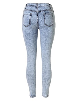 Slimming Hollow-Out Ripped Jean