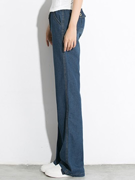 Stylish Wide-Leg Waistband Jean