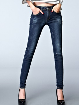 Slimming Frayed Curvy-Fit Jean