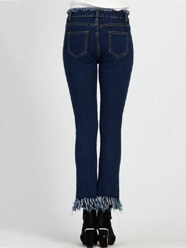 Stylish Skinny Rough Selvage Jean
