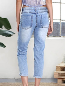 Frayed Destroy Pencil Jean