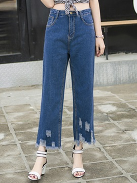 Causal Wide-Leg Rough Selvage Jean