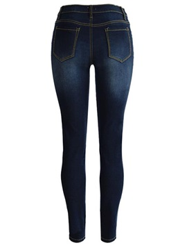 High Waist Denim Slim Jeans