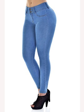 Low-Waist Skinny Plain Women's Pencil Pants