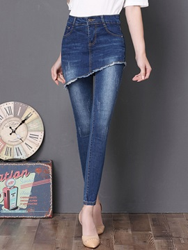 High-Waist Slim Washable Women's Jeans