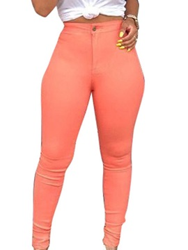 Plain Skinny High Waist Women's Jeans
