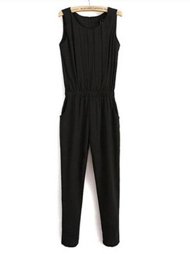 Loose-Fit Sleeveless Jumpsuit