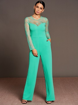 Lace Slim Wide Leg Women's Jumpsuit