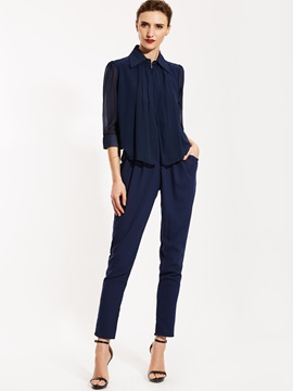 Harem Pants Plain Women's Jumpsuit