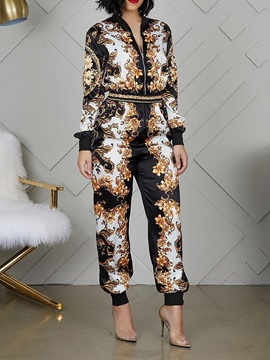 Plant Sexy Ankle Length Slim Women's Jumpsuit