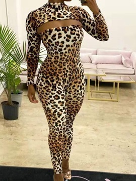 Leopard Sexy Backless Women's Two Piece Sets
