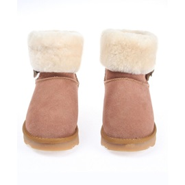 Faux Fur Metal Buckle Snow Boots