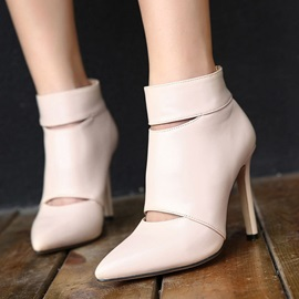 Pointed Toe Cut Out Booties