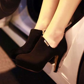 Black Suede Side-Zip Ankle Boots