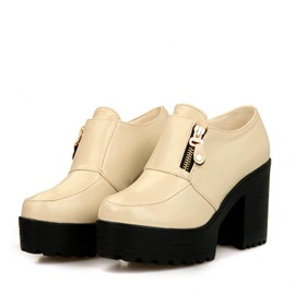 PU Wedge Sole Chunky Heel Booties