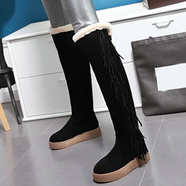 Suede Slip-On Tassel Slip-On Over-The-Knee Women's Boots