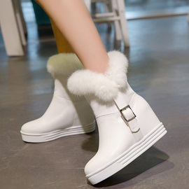 PU Slip-On Hidden Heel Women's Ankle Boots