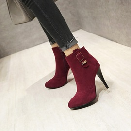 Faux Suede Sequin Stiletto Plain Women's Boots