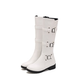 PU Rivet Block Heel Women's Knee High Boots