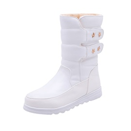 Velcro Women's Calf High Snow Boots
