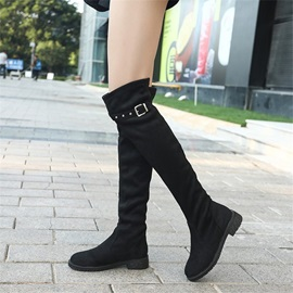 Round Toe Block Heel Women's Over The Knee Boots