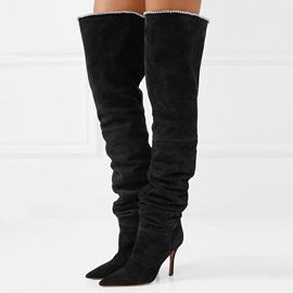 Pointed Toe Stiletto Heel Over The Knee Boots