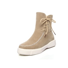 Plain Round Toe Women's Snow Boots