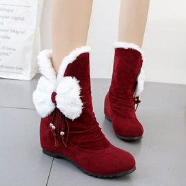 Round Toe Plain Slip-On Women's Snow Boots