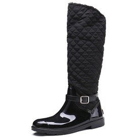 Side Zipper Block Heel Women's Hunter Boots