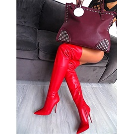 Side Zipper Pointed Toe Customized Thigh High Boots