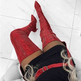 Customized Stiletto Heel Side Zipper Pointed Toe Sexy Boots