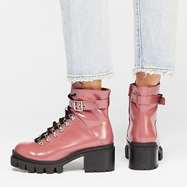Plain Side Zipper Round Toe Buckle Martin Boots