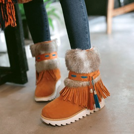 Slip-On Platform Round Toe Casual Snow Boots